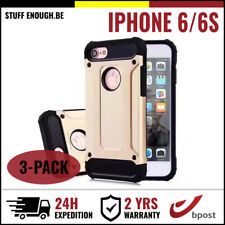 3IN1 Gold Armor Cover Cas Coque Etui Silicone Hoesje Case Or For iPhone 6 6S