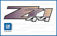 2 - Z71 4x4 Chevy Silverado 07-13 Decals Stickers Fade Purple Slate GRPRPSLT