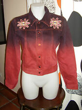GIGLI (made in Italy) RARE VINTAGE  Jeans Jacket Giubbotto Jeans Women's Tg L