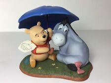 Disney Pooh & Friends EEORE porecelain figurine Friends Forever, Rain or Shine
