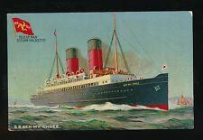 Isle of Man Shipping SS BEN-MY-CHREE Isle of Man Steam Packet Co c1902 u/b PPC