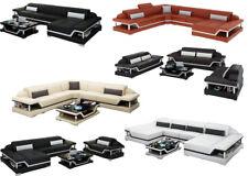 Cuero Conjunto de Muebles para Salón Sofá Esquinero Diseñador G8004 Lujo