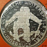1976 Austria 100 Schillings Winter Olympics Proof Silver Coin