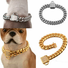 Pet Training Chain Collar Strong Metal Dog Collar  for Large Dog Pitbull Bulldog