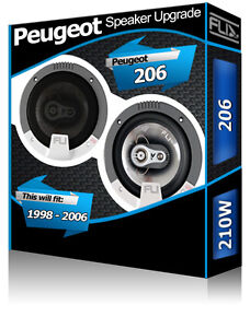 Peugeot 206cc Portiera Anteriore Altoparlanti Fli Audio Auto Kit 210W