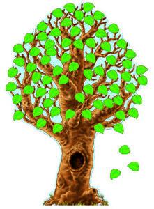 Carson Dellosa Big Realistic Tree Bulletin Board Set, 46 x 70 Inches