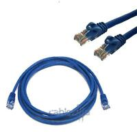 Cat5 Cable Network Ethernet Router CAT5E LAN 6FT Blue Switch RJ45 Patch Cord