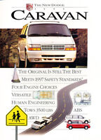 1995 Dodge Caravan Van 12-page Original Car Dealer Sales Brochure Catalog Grand