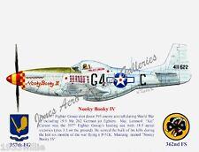 """357FG Leonard """"Kit"""" Carson's P-51K Mustang """"Nooky Booky IV"""" by Willie Jones Jr"""