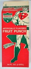 All Star SUPERMAN FRUIT PUNCH DRINK CARTON UNUSED Empty 1966