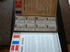 FRANCE/DANEMARK -  document 8 timbres n** (sculpture robert jacobsen) (cy22)