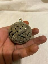 Ancient Rare Cast Bronze Primitive Period  South India Jali Cut Old Bell