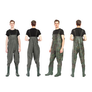 Waterproof Overall Chest Waders Fishing Hunting With Wading Boots
