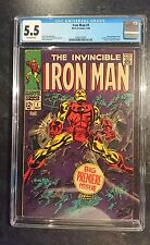 Iron Man #1 (Marvel, 1968) CGC FN- 5.5 Off-white pages....