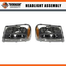 Pair Left & Right Headlight Assembly Dorman For 02-05 CHEVROLET TRAILBLAZER
