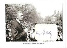 Eugene McCarthy Autograph Presidential Candidate Senator Minnesota Lyndon #2