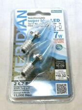 Meridian 7W Equivalent Clear Super Blue C7 LED Light Bulbs - 12 Bulbs Nightlight