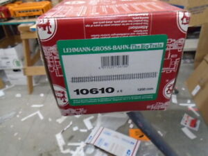 LGB 10610 BRASS 4 FOOT STRAIGHT TRACK , 6  PIECES NEW IN BOX
