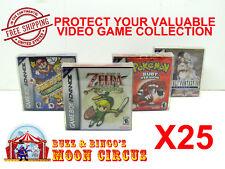 25x NINTENDO GAME BOY ADVANCE GAME BOX - PROTECTIVE BOX PROTECTOR SLEEVE CASE