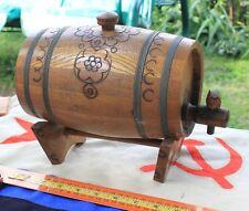 antique primitive WOODEN Miniature BARREL CASK KEG