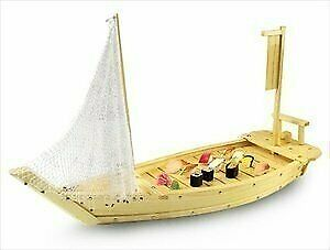"""Wooden Sushi Boat Serving Tray 16"""" 40cm"""