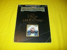 FOR2 THE DROW OF THE UNDERDARK FORGOTTEN REALMS DUNGEONS & DRAGONS AD&D 2ND - 1