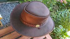 Gumleaf Leather Mens Hat - Australian outback bushcraft bush fedora barmah style