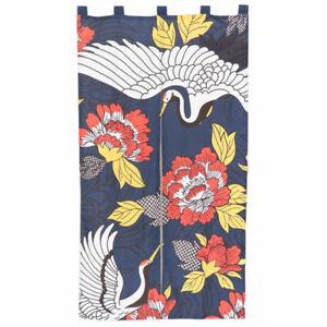 Noren Japanese Doorway Curtain - Japanese Tsuru Bird / Crane Design