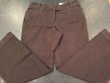 Ann Taylor Loft JULIE Brown Curvy Flare Leg Stretch Pants Size 8P Petite NWT