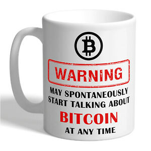 BITCOIN WARNING Ceramic Coffee Tea Mug Cup Cryptocurrency Btc Crypto Mining Gift