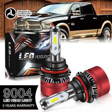 9004 HB1 LED Headlights Bulbs 60W 12000LM Kit High Low Beam Headlamp 6000K AC-48
