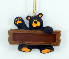 Big Sky Carvers Bearfoots Bear Holding Sign Ornament New Free Shipping
