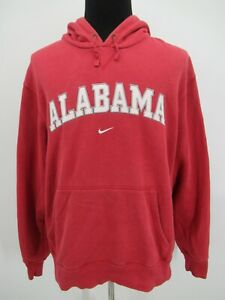 P4533 VTG Nike Men's University Of Alabama Hooded Fleece Sweatshirt Size XL