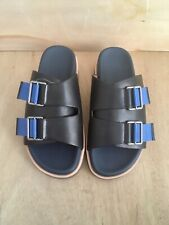 Donald J Pliner Byron-35 Leather Dress Slides Sandals (Blue) Mens Size 7M
