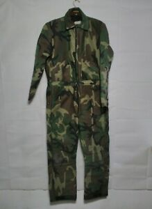 Woodland Camouflage Coveralls Hunting Suit Thick Warm Size Large Regular