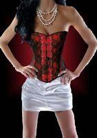 Corset burlesque sexy rouge et noir réference Calou de Violet Lingerie