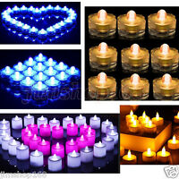 UK 12/24/36PCS LED Tea Light Candles Realistic Battery-Powered Flameless Candles