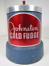 Orig Old Johnston Cold Fudge Ice Cream Shop Soda Fountain Display Helmco Chicago
