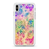 Colourful Celestial Floral Twinkling Milky Way Space Roses 2D Phone Case Cover