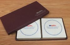 Set of 2 The Eagle Society of American Cruise Lines Drink Coasters in Box