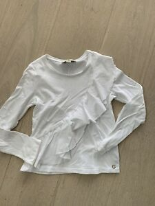 Girls Frill Long Sleeved Top By Massimo Dutti Age 7-8 Years