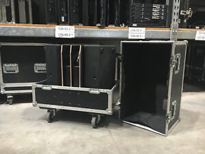 Dreamwork Cases Profi Flightcase / Doppelcase für 2x JBL SRX 712M inkl. Zubehör