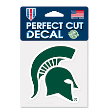 One Size WinCraft NCAA Michigan State Spartans 4x4 Perfect Cut White Decal Team Color