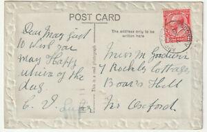 1925 APPLETON ABINGDON Oxfordshire single circle pmk KGV 1d birthday PPC