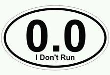 ~ Full Marathon 0.0 funny Mile Run Running Vinyl Decal Sticker ~