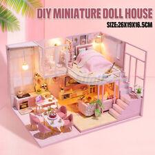 1:24 3D DIY Miniatur Möbel Kit Licht Puppenhaus Haus Kinder Geburtstagsgeschenk