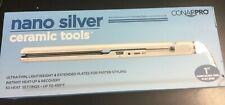 "Conair Pro Nano Silver Ceramic Tools Ultra Thin Straightening Iron 1"" #0559"