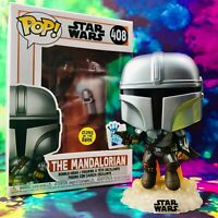 The Mandalorian Flying with Blaster GITD Funko Insider Club Exclusive Funko POP!