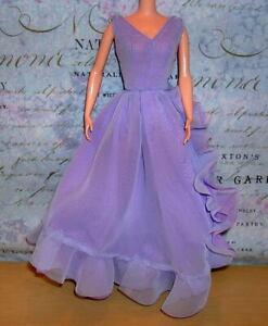 Barbie ELIZABETH TAYLOR White Diamonds Lavender Dress Belt & Shoes Only NO DOLL