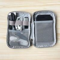 Portable Travel Earphone Cable USB Gadget Organizer Storage Bag Case Q
